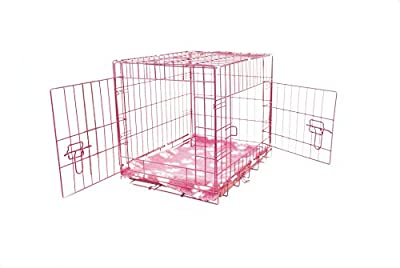 "UKPET Pro Dog Crate Pink 24"" Small 60cm from UK Pet Pro"