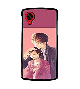PrintDhaba Couple D-2654 Back Case Cover for LG GOOGLE NEXUS 5 (Multi-Coloured)