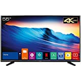 Kevin 140 cm (55 inches) 4K Ultra HD Smart LED TV KN55UHD (Black) (2018 model)