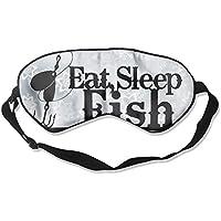 Eat Sleep Fish 99% Eyeshade Blinders Sleeping Eye Patch Eye Mask Blindfold For Travel Insomnia Meditation preisvergleich bei billige-tabletten.eu