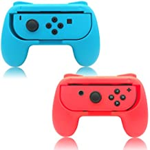 FYOUNG Joy-con Grip for Nintendo Switch Controller Comfortable Handles Grip kits Pack of 2 Wear-Resistant Protect Handheld Gamepad for Switch Joy con-Blue,Red