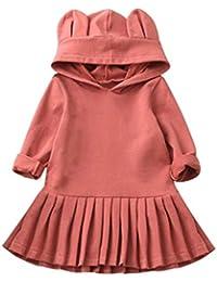 ropa de bebé, Honestyi Ropa para niñas pequeñas con capucha de manga larga con capucha y vestidos de princesa