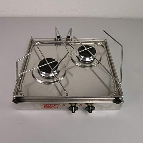 CAN - Soporte para hornillo de Gas para hornillo de 2 Fuegos...
