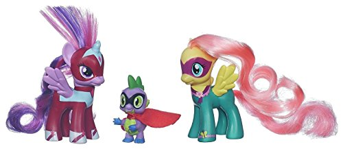 my-little-pony-toy-power-ponies-3-figure-pack-twilight-sparkle-fluttershy-spike-the-dragon