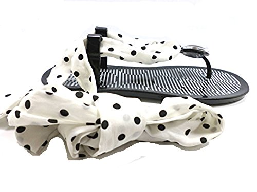 COLORS OF CALIFORNIA Sandales Flip Flops Femme Noir Blanc Caoutchouc (40 EU)