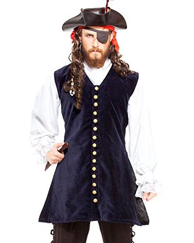 Piratenkostüm, Mittelalter, Renaissance, Captain Worley-Weste [C1422] Gr. XXL, navy