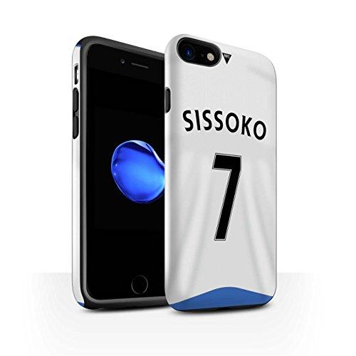 Offiziell Newcastle United FC Hülle / Glanz Harten Stoßfest Case für Apple iPhone 7 / Tioté Muster / NUFC Trikot Home 15/16 Kollektion Sissoko