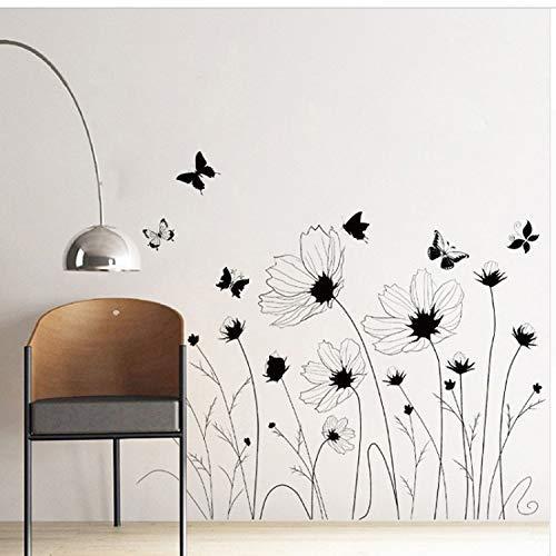 MWPO Europäischen Stil Grüne Blätter Flamingo Wandaufkleber Home Wand Grenze Sockelleiste Wandbild Poster Kunst Kinderzimmer Kindergarten Aufkleber -