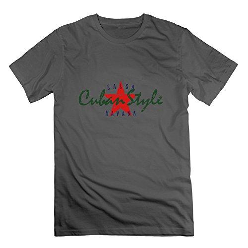 Cuban Style _ Vec _ 3US color uomini alla moda maglietta camicia Slim Fit taglia, Uomo, Grey, XL