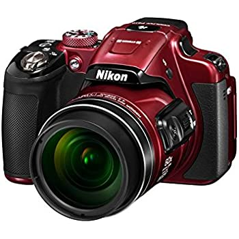 Nikon Coolpix P610 16MP Point And Shoot Digital Camera (Red) with 60x Optical Zoom,  8GB Memory card and case