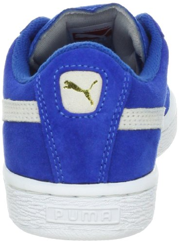 Puma High Risked Black White Suede Youths Trainers Snorkel Blue/White
