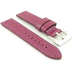 DASSARI Baron Purple Genuine Textured Grain Italian Leather Watch Strap for panerai 26/26 26mm