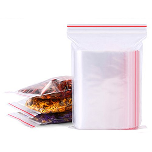 UxradG PE Taschen transparent Jewelry Ziploc wiederverschließbaren Kunststoff Poly für kleine Teile Vorräte für verstauen (100Stück 4* 6cm)