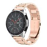 NotoCity Bracelet Galaxy Watch 46mm, Bande de Montre en Acier Inoxydable de 22mm pour Gear S3 Frontier/ S3 Classic,Huawei Watch GT/Huawei Watch 2 Classic(Pas pour Sport), Ticwatch Pro