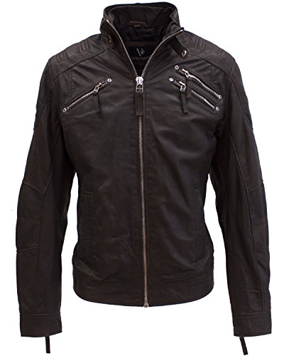 BRUNO BANANI Herren Biker-Jacke dunkelbraun in XL