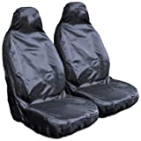 EXTRA HEAVY Heavy Duty Waterproof Nylon Front Pair of Seat Cover Protectors