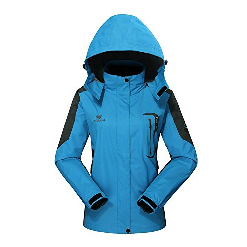 GIVBRO Waterproof Jacket Womens Raincoat Ladies Rain Jacket-[UPGRADED 2018] Outdoor Hooded Softshell Camping Hiking Mountaineer Running Jackets