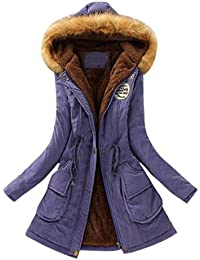 Mujer Invierno Abrigo Parkas Militar con Capucha Chaqueta de Acolchado Anorak Jacket Outwear Coats,Abrigos