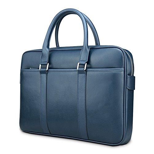 prsTECH® MILANO Premium Leather Laptop Bag Leder Laptop Notebook Tasche Briefcase Aktentasche 15 Inch Zoll Tasche MacBook, Asus, Acer, HP, Sony, Dell, Lenovo