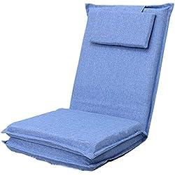 XHCP Silla Plegable Plegable Desplegable Sofá Convertible en Cama para Dormir (Color: Azul)
