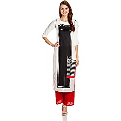 W for Woman Women's Straight Kurta (16AU15959-57805-8-WHITE)