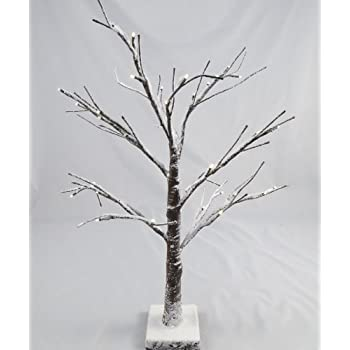 Artificial LED Snowy Twig Christmas Tree - 60cm, Brown & White, Pre-Lit - Artificial LED Snowy Twig Christmas Tree - 60cm, Brown & White, Pre
