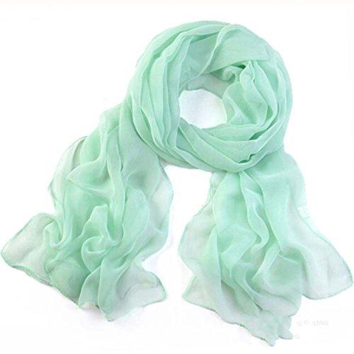 Vovotrade las mujeres bufanda larga suave chal de gasa fina envoltura,160*50CM...