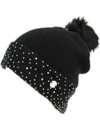 Cappello donna Gian Marco Venturi modello cuffia con risvolto 61716 nero 3622d213a768