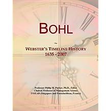 Bohl: Webster's Timeline History, 1635-2007