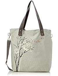 Adelheid - Glücklich Einkaufstasche, Bolso Mujer, Gris (Silbergrau), 10x39x44 cm (B x H T)