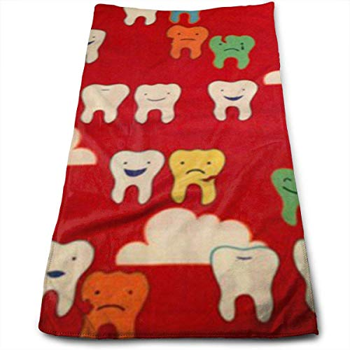 Tyueu Handtuch Gesicht Handtücher Dental Fabric Wallpaper Bath Towels for Bathroom-Hotel-Spa-Kitchen-Set - Circlet Egyptian Cotton - Highly Absorbent Hotel Quality Towels -