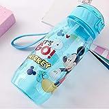 SHOPFF Bottiglia Sportiva Bambini Ecologici Che Bevono Bottiglie di Acqua del Fumetto Bpa Borraccia in Tritan Gratuita Bottiglia per Bambini Bollitore per Bambini Bottiglia per Sport Portatile, A