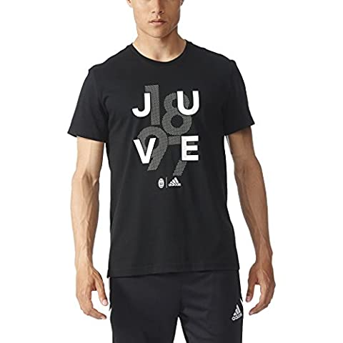 adidas Juventus Gr Tee Go - Camiseta para hombre, color negro, talla M