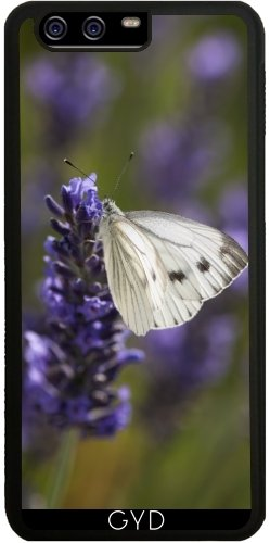 silicone-case-for-huawei-p10-white-butterfly-on-lavender-by-utart