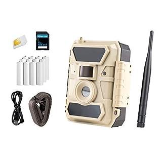 ICUserver 3G - Überwachungskamera mit SIM-Karte - Modell 2019 - EIN- & Ausschalten der Sendefunktion per Mobiltelefon - europaweiter Empfang - inkl. 8 GB SD-Karte & 12 Batterien - 100°-Linse - beige