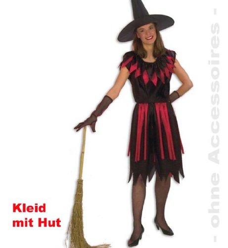 Hexe Walpurga GR 40 Halloween Damen Hexenkostüm Hexenkleid 1tlg.