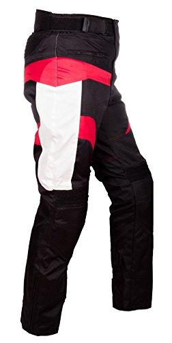 WinNet Pantaloni uomo da moto con protezioni ed imbottitura removibile
