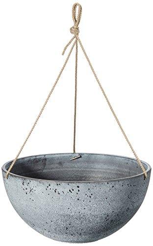 TS Blumenampel, Cera-Mix Pflanzgefäß Nova, frostbeständig und leichtgewichtig, concrete, 35x35x17 cm, 136463