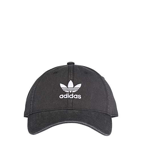 adidas Kinder Adicolor Washed Baseball-Cap, Schwarz/Weiß, FR Unique (Taille Fabricant : OSFC) -
