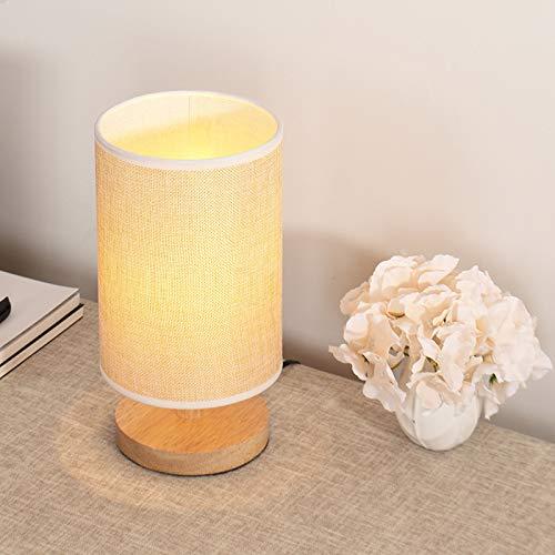 Lampada da comodino camera da letto in legno massello dimmerabile LED lampada da tavolo piccola luce calda log