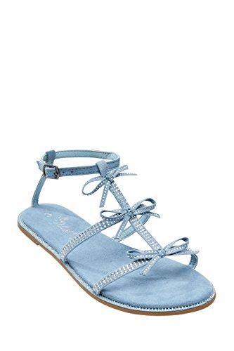 next Sandales Avec Nœud Orné De Strass (Fille) Standard Fille Bleu
