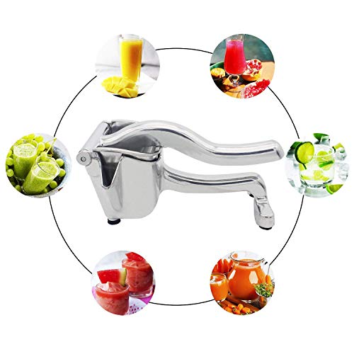 Juicer Manual Fruit Lemon Juicer Detachable Aluminium Pomegranate Squeezer Heavy Duty Single Retro Style Hand Press Citrus Press Juicer Aluminum and Steel