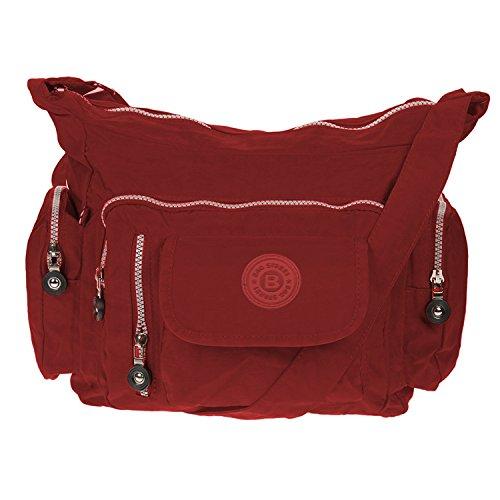 Borsa A Tracolla Street Bag Nylon Nylon Rosso