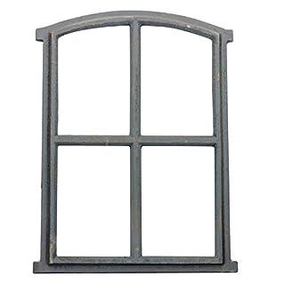 aubaho Fenster grau Stallfenster Eisenfenster Scheunenfenster Eisen 49cm Antik-Stil (k)