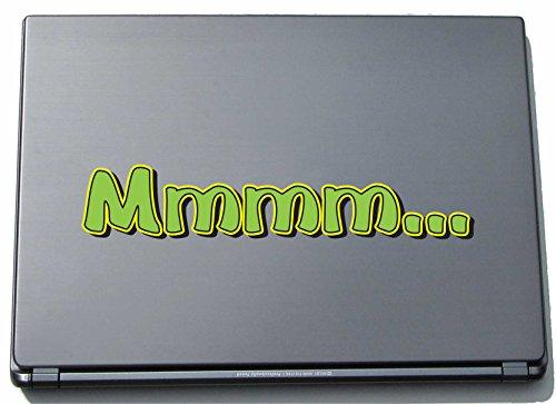 Preisvergleich Produktbild Laptopaufkleber Laptopskin Comic 044 - Lustiges Motiv Mmmm... - 210 mm Aufkleber