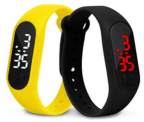 Stylevilla Smart Black Digital LED Band Watch-N-Mi3-1 2PC Digital Watch - for Boys Digital Watch - for Men