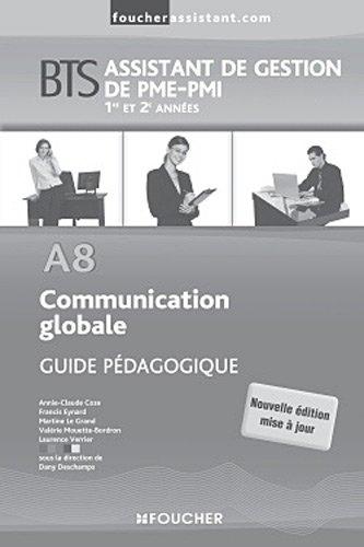 A8 Communication globale BTS Guide pédagogique