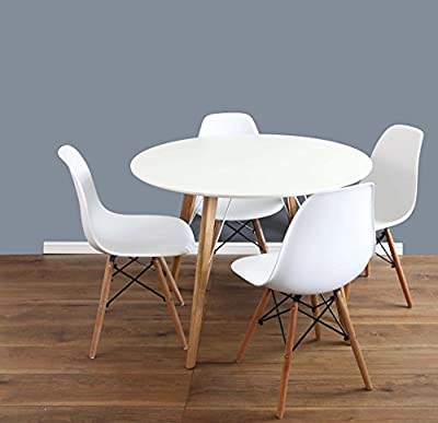 Mmilo Eiffel Inspired Contemporary Dining Table and Chairs set Round-100cm - cheap UK light store.