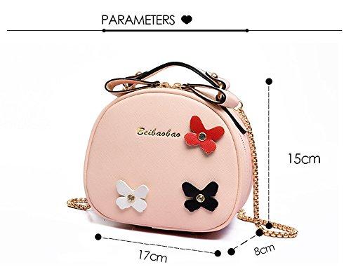 EveryGo1 Neue Mode Mädchen Crossbody Taschen Umhängetasche Messenger Bag Schmetterling Kleine Runde Tasche Rot