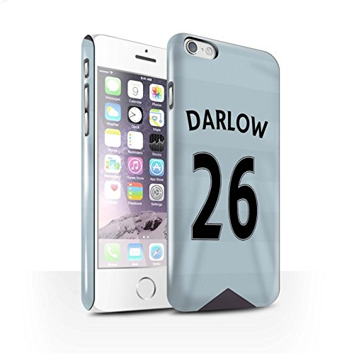 Offiziell Newcastle United FC Hülle / Glanz Snap-On Case für Apple iPhone 6S / Pack 29pcs Muster / NUFC Trikot Away 15/16 Kollektion Darlow